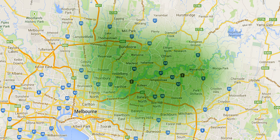 bin hire map melbourne