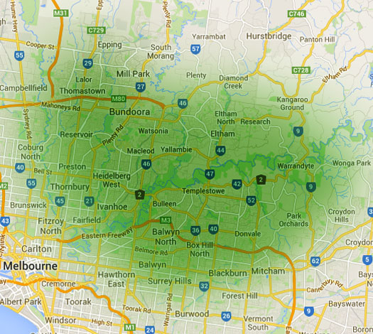 melbourne bin hire map