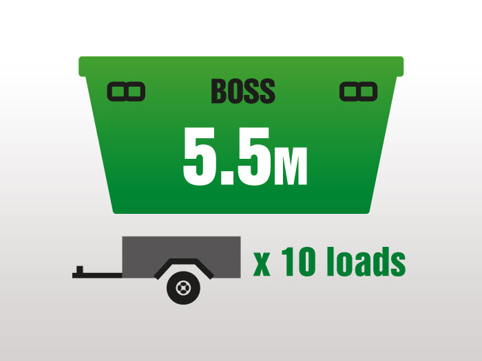 5.5m Boss Medium Sized Skips